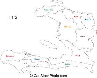 mappa, haiti, contorno