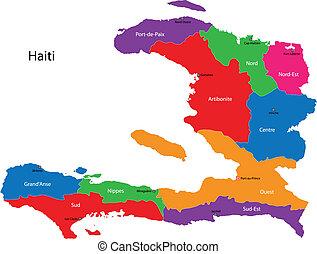 mappa, haiti, repubblica