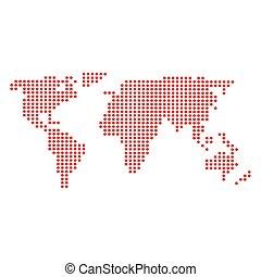 mappa, icona, mondo, terra, isolato