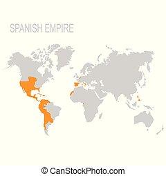 mappa, impero, spagnolo