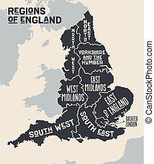 Cartina Gran Bretagna Regioni.Regioni Mappa Inghilterra Regioni Mappa Vettore Inghilterra Bandiere Canstock