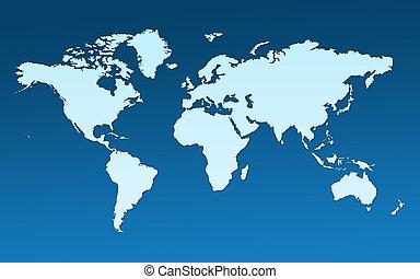 mappa, intero, mondo