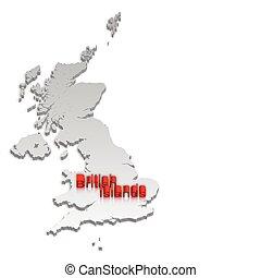 mappa, isole, 2, britannico