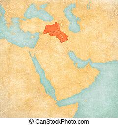 Cartina Kurdistan.Mappa Kurdistan Est Mezzo Mappa Painting Vecchio Come Kurdish Vendemmia Kurdistan Asia Flag Acquarello Canstock