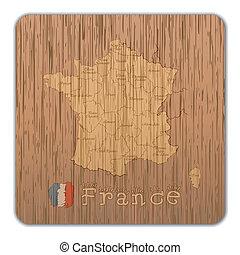 mappa, legno, francia