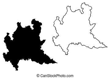 Cartina Lombardia Da Colorare.Mappa Lombardia Mappa Schizzo Autonomous Illustrazione Regione Italy Vettore Scarabocchio Lombardia Canstock