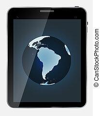 mappa mondo, background..vector, astratto, isolato, schermo, bianco, realistico, disegno, tavoletta, illustrazione