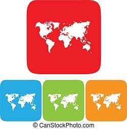 mappa mondo, icona