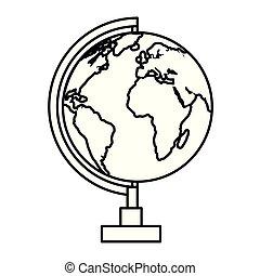 mappa mondo, terra, isolato, icona