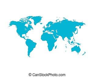 mappa mondo, vettore, illustrazione