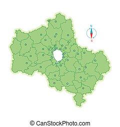 mappa, mosca, regione