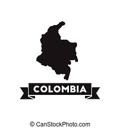 mappa, nero, columbia, icona, bianco, appartamento