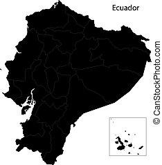 mappa, nero, ecuador