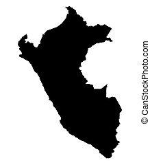 mappa, nero, perù