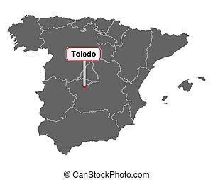 Cartina Spagna Toledo.Toledo Spagna Toledo Citta Centrale Spagna Canstock