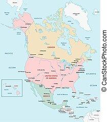 mappa, nord america