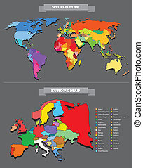 mappa, paese, ogni, mondo, selectable, template.