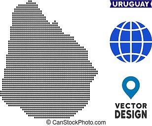 mappa, pixelated, uruguay
