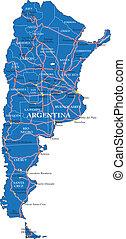 mappa, politico, argentina