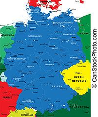 mappa, politico, germania