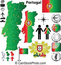 mappa, portogallo