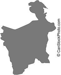 mappa, potosi, -, (bolivia)