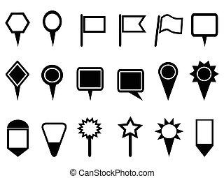 mappa, puntatore, icone, navigazione