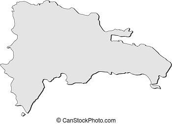 mappa, -, repubblica, domenicano