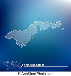 mappa, samoa americana