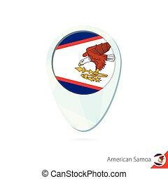 mappa, samoa, perno, americano, fondo., bandiera, posizione, bianco, icona