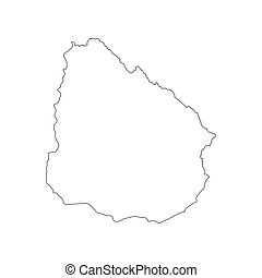 mappa, silhouette, uruguay