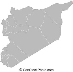 mappa, siria