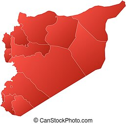 mappa, -, siria