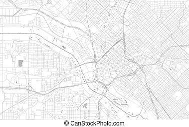 mappa, stati uniti, città, dallas, vettore, texas