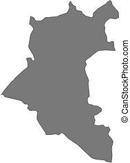 mappa, (syria), -, daraa