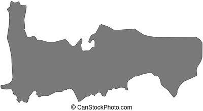 mappa, (syria), -, hama