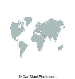 mappa, terra, mondo, icon.