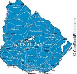 mappa, uruguay