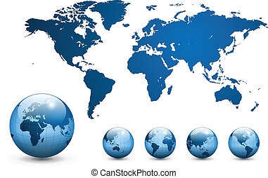 mappa, vector., mondo