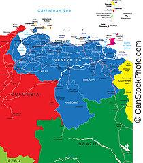 mappa, venezuela