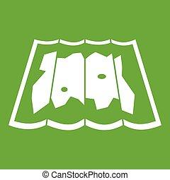 mappa, verde, icona