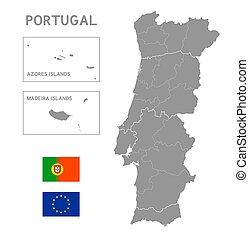 Portogallo Cartina Fisica E Politica.Mappa Politico Portogallo Mappa Scaling Portogallo Capitale Nazionale Politico Illustrazione Fiumi Lakes La Canstock