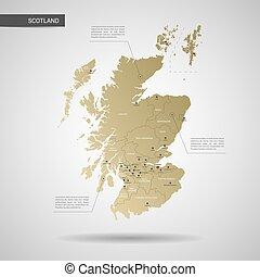 Cartina Scozia Politica.Scozia Politico Mappa Regno Mappa Grande Unito Terzo Settentrionale Scozia Nazionale Inglese Politico Coperchi Canstock