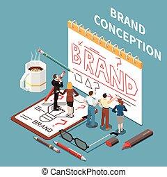 marca, costruzione, concetto