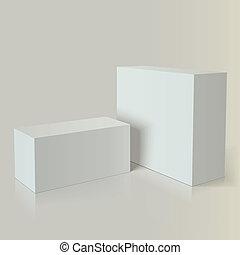 marcare caldo, bianco, imballaggio, realistico, foto