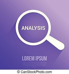 marketing, analisi, vetro, ottico, parole, ingrandendo, concept: