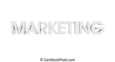 marketing, bianco, 3d, testo