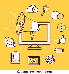 marketing, concetto, affari