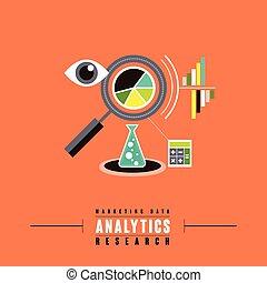marketing, concetto, dati, analytics