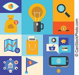 marketing, icone internet